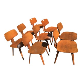 Thonet Schoolhouse Wood Chairs - Set of 8