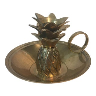 Brass Pineapple Candle Holder