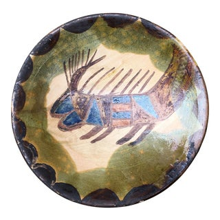 Dolores Porras Oaxaca Mexican Folk Art Pottery Bowl