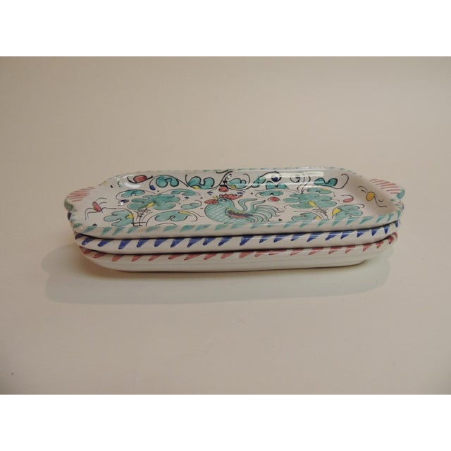Hand Painted Ceramic Serving Dishes Set of (3) - Image 6 of 6