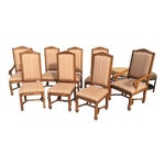 "Image of Bausman ""Os De Mouton"" French Style Dining Chairs - Set of 8"