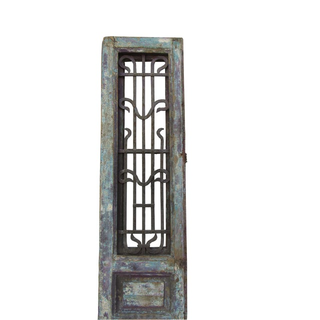 Architectural Mediterranean Door with Iron Grill - Image 2 of 9