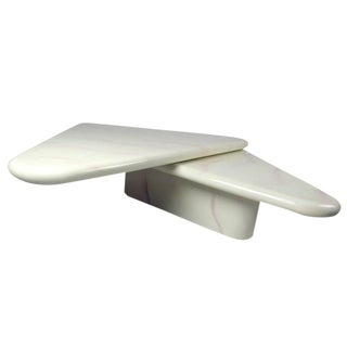Karl Springer Style Contemporary Swivel-Top Coffee Table