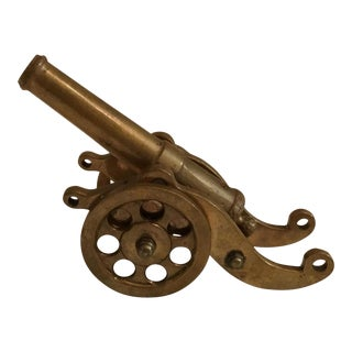 Antique Brass Toy Cannon