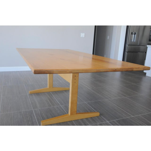 Solid Beech Trestle Table - Image 2 of 9