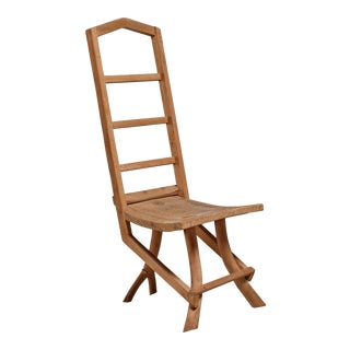 Fernando da Ilha do Ferro craft chair with high back, Brazil