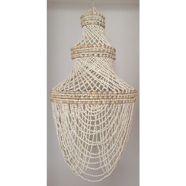 Beaded Shell Chandelier Lantern - Image 3 of 7