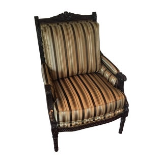 Henredon Green & Gold Bergere Chair