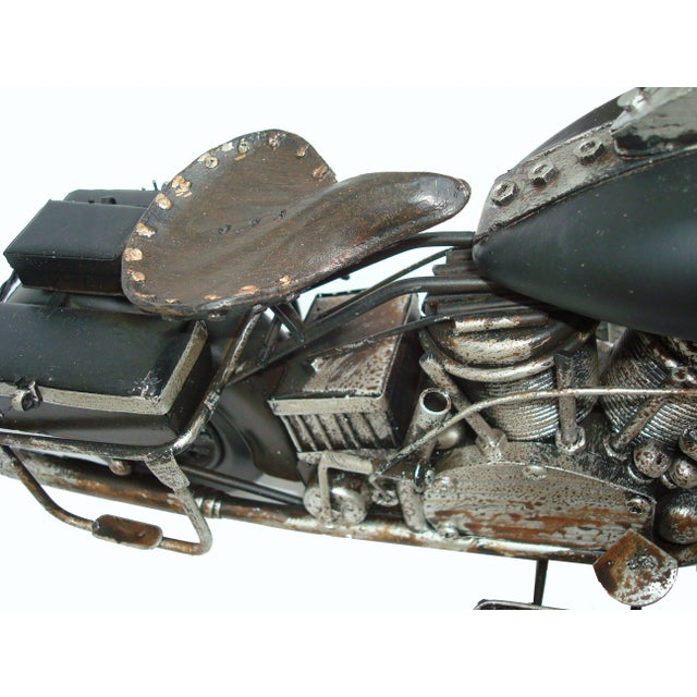Metal Motorcycle With Moving Parts - Image 4 of 7