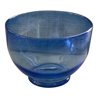 Blue Art Glass Bowl