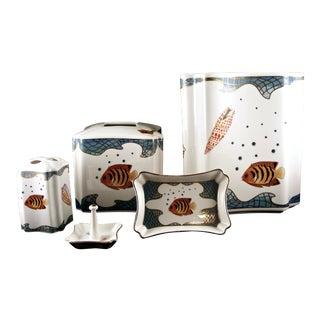 'St Tropez' Porcelain Bathroom Set