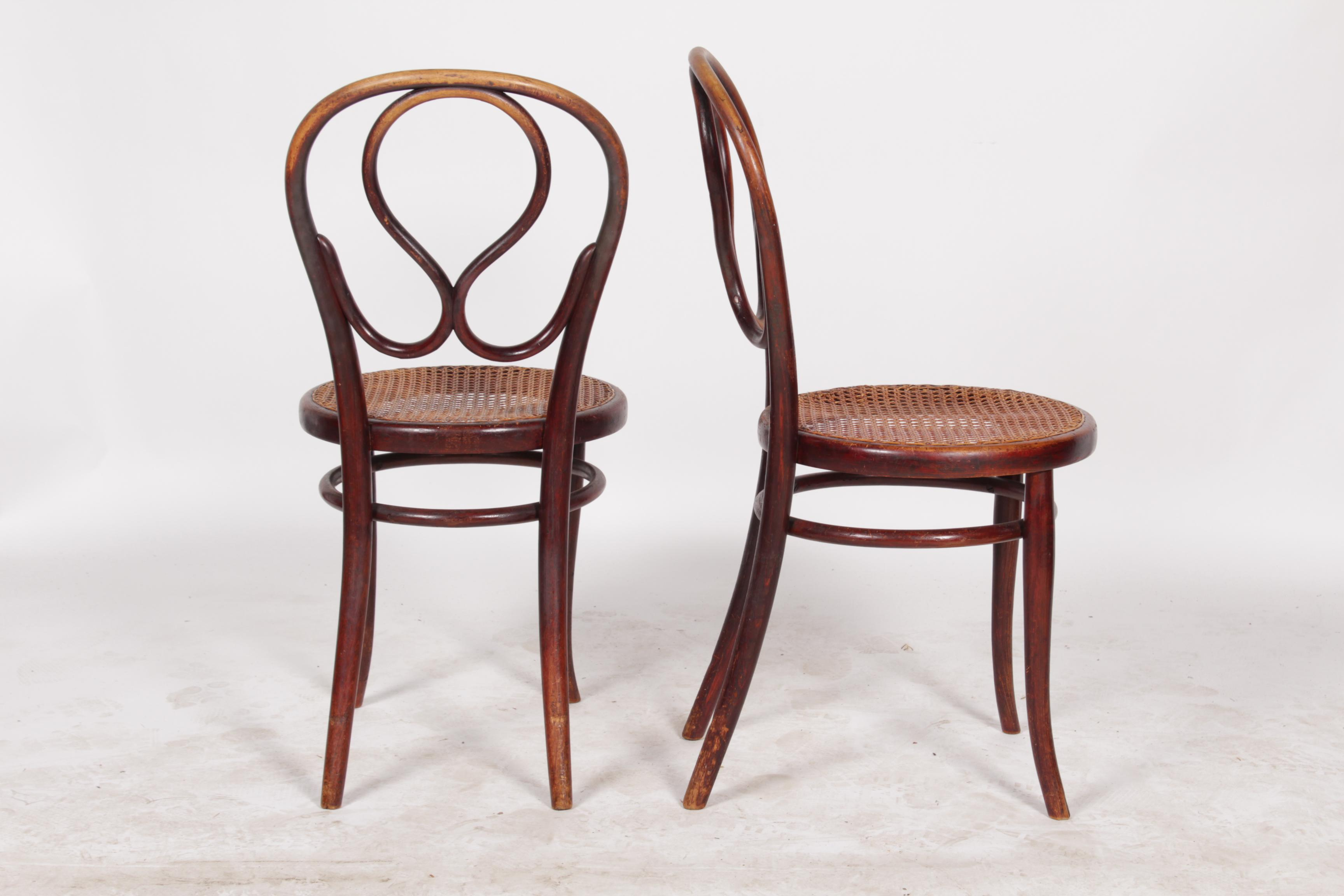 1920s thonet labeled bentwood chairs a pair image 3 of 8
