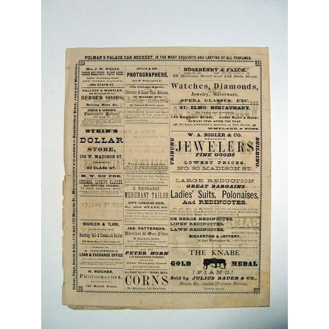 Image of 1873 McVicker's Theatre Playbill