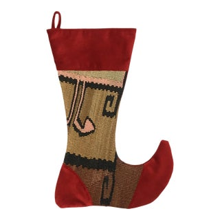 Large Kilim Christmas Stocking | Cheer
