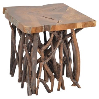 Indonesian Teak Wood End Table