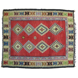 "Turkish Kilim Wool Rug - 8'2"" x 9'6"""