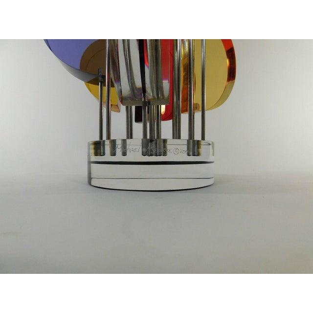 Image of Michael George Sunburst Kinetic Lucite Sculpture