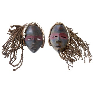 "Ivory Coast ""Dan"" Masks- A Pair"