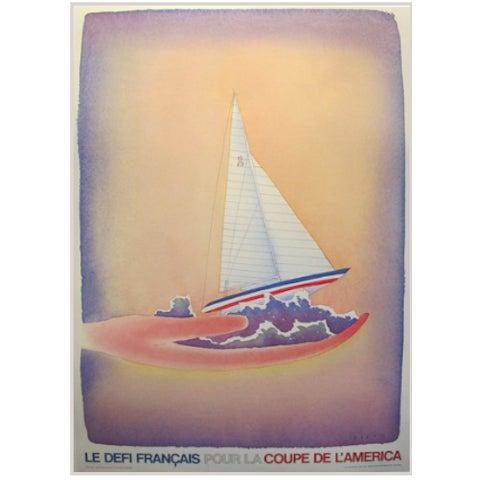 Image of Original 1981 America's Cup Poster, Folon