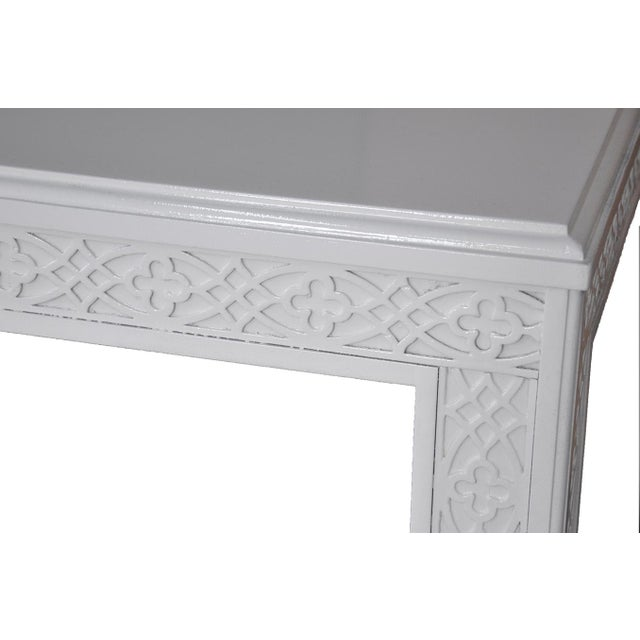 Large Chippendale-Style Fretwork Side Table - Image 4 of 5