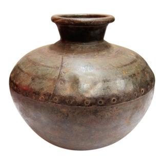 Iron Riveted Vase
