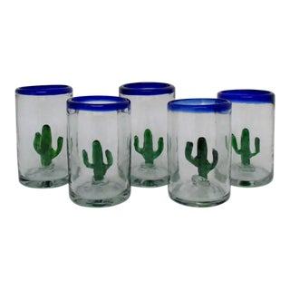 Mexican Cactus Tumblers - Set of 5