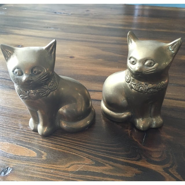 Image of Rosenthal Netter Brass Cats - A Pair