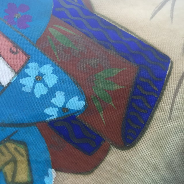 Japanese Hand Painted Silk - Image 6 of 11