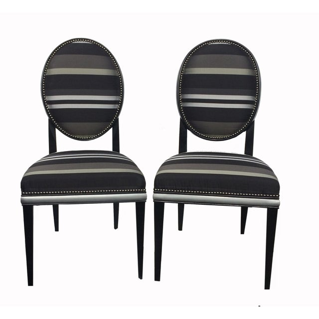 Image of Randolph & Hein Park Avenue Side Chairs - A Pair