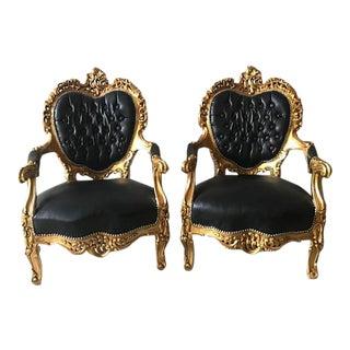 Italian Rococo Chairs - A Pair