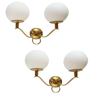 J. Adnet Vintage French Sconces - A Pair
