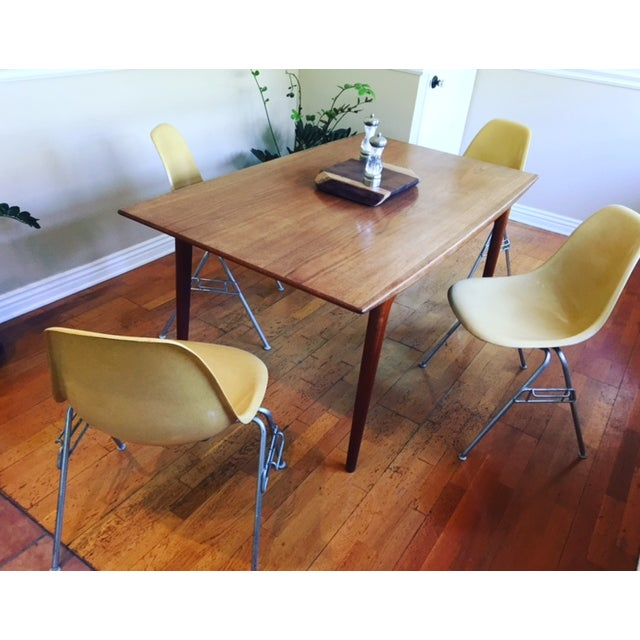 Vintage Yellow Eames Shell Chairs - Set of 4 - Image 8 of 10