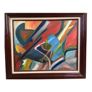 D Goldberg Vintage Mid-Century Oil Painting