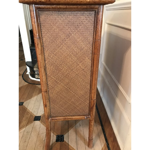 Wicker and Bamboo Maitland Smith Cabinet - Image 8 of 9