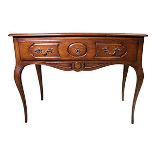Louis XV French Provincial Mahogany Writing Desk Vanity
