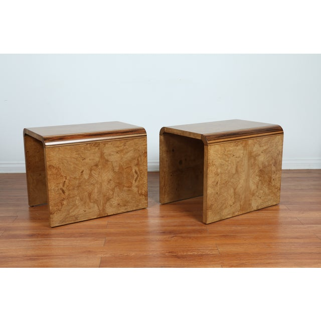 Mid Century Burlwood Nightstands - 2 - Image 7 of 9