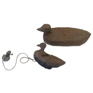 Vintage French Duck Decoys - Pair