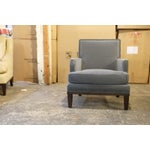 Image of Contemporary Custom Club Chairs - A Pair