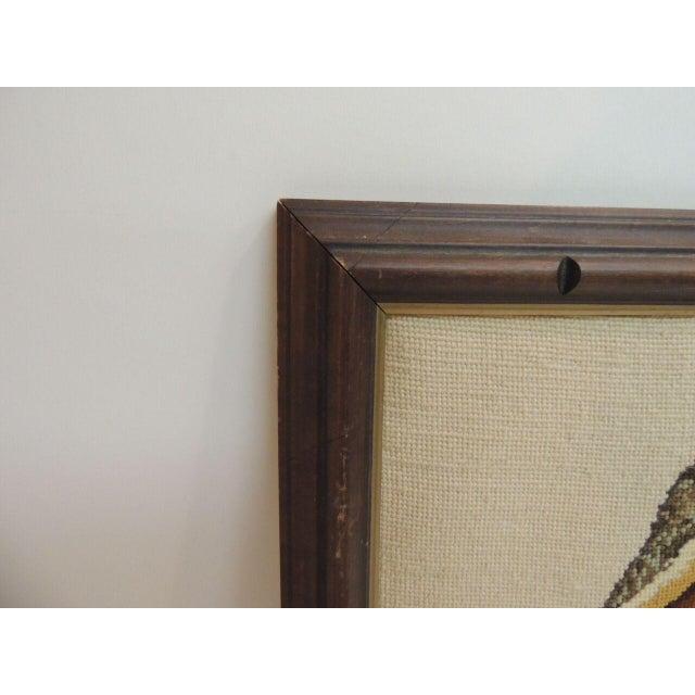 Image of Vintage Framed Tapestry Artwork