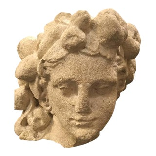 Roman Mythological Head Sculpture