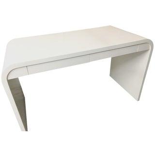 Modern Waterfall Desk in White Dove