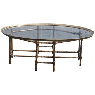 Faux Bamboo Tray Top Coffee Table