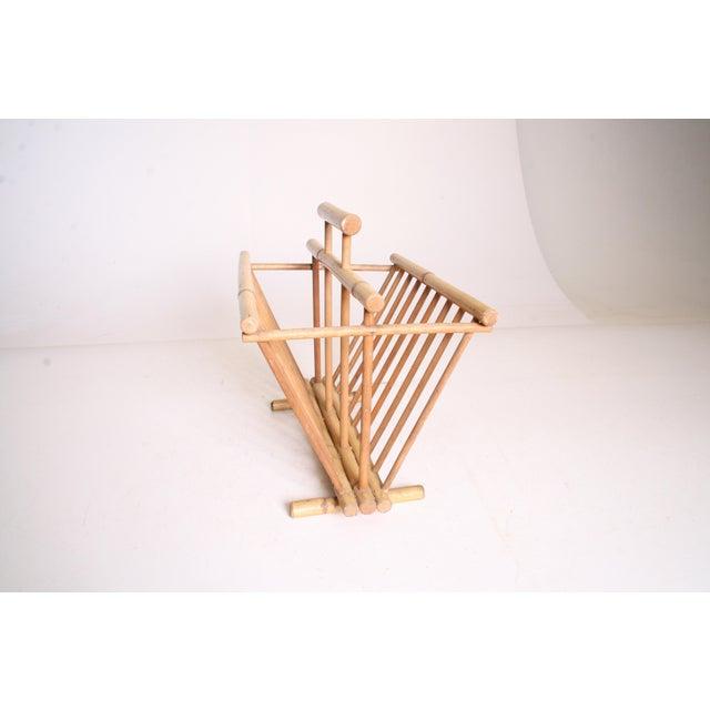 Vintage Boho Chic Bamboo Magazine Rack - Image 7 of 11