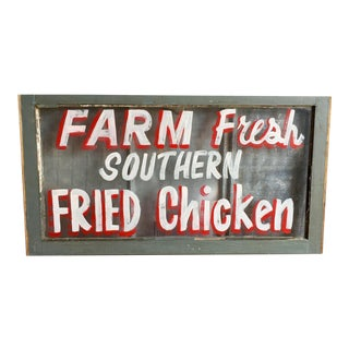 Vintage Re-Purposed Window Sign