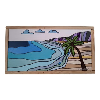 """Beach in Hawaii II"" Original Block Art by Kris Gould"
