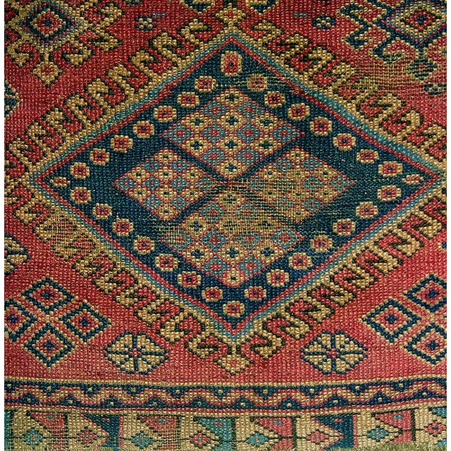 Old Caucasian Oriental Rug - 2′10″ × 3′11″ - Image 3 of 9