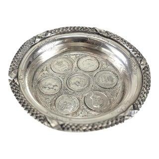 Circa 1910 Exceptional Porto Portuguese Coin Silver Wine Coaster Dish - Set of 7