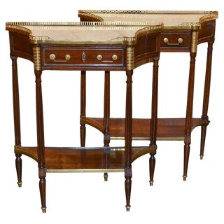 Fine Pair of Maison Jansen Side Tables