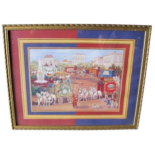 Signed and Framed Circus Print