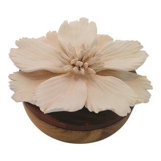 Porcelain & Wood Keepsake Box